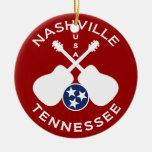 Nashville, Tennessee los E.E.U.U. Adorno Navideño Redondo De Cerámica