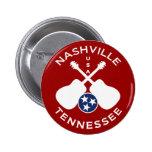 Nashville, Tennessee los E.E.U.U. Pin Redondo De 2 Pulgadas