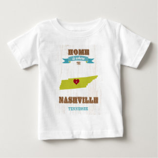 Nashville-Tennessee Map – Home Is Where The Heart T Shirt