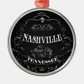 Nashville, Tennessee - Music City Metal Ornament