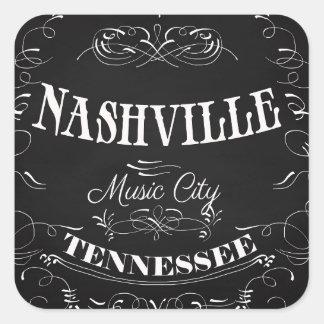 Nashville, Tennessee - Music City Square Sticker