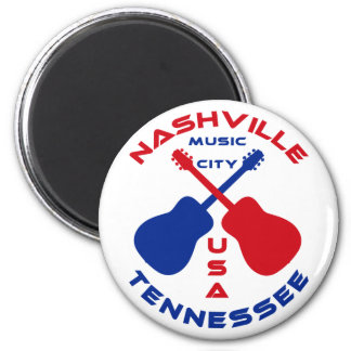 Nashville, Tennessee Music City USA 2 Inch Round Magnet