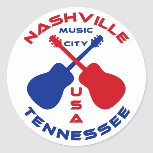 Country Music City Stock Photos Country Music City Stock: Nashville, Tennessee Music City USA Classic Round Sticker