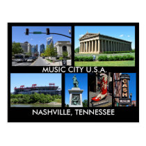 Nashville Tennessee Music City USA Postcard