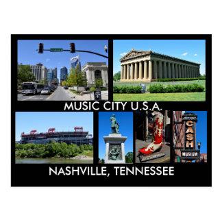 Nashville Tennessee Music City USA Postcard