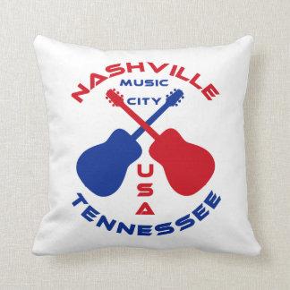 Nashville, Tennessee Music City USA Throw Pillow