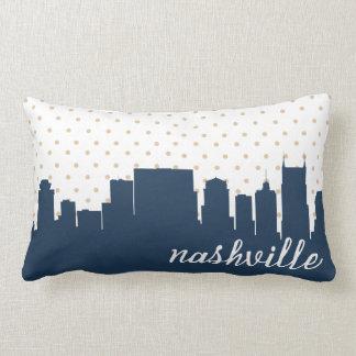 Nashville, Tennessee navy polka dot Lumbar Pillow