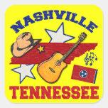 Nashville, Tennessee Calcomanías Cuadradas Personalizadas