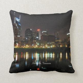 Nashville, Tennessee Skyline at Night Throw Pillow
