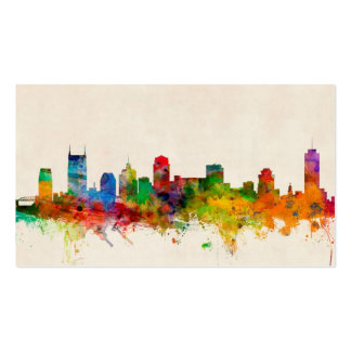Nashville Tennessee Skyline Cityscape Business Card
