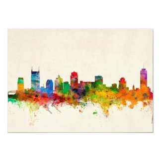 Nashville Tennessee Skyline Cityscape Card