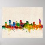 Nashville Tennessee Skyline Cityscape Poster