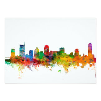 Nashville Tennessee Skyline 13 Cm X 18 Cm Invitation Card