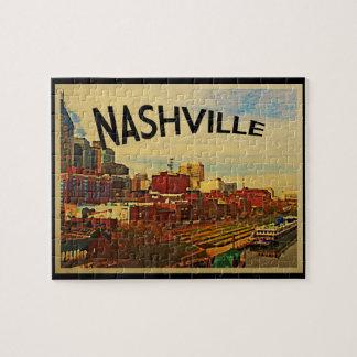 Nashville Tennessee Skyline Jigsaw Puzzle