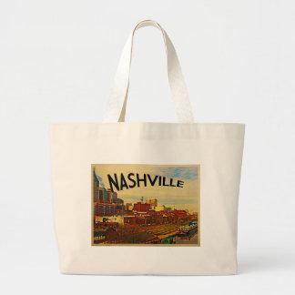 Nashville Tennessee Skyline Large Tote Bag