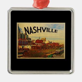 Nashville Tennessee Skyline Metal Ornament