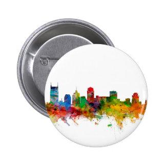 Nashville Tennessee Skyline Pinback Button