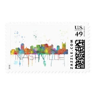 NASHVILLE, TENNESSEE SKYLINE - Postage stamps
