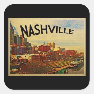 Nashville Tennessee Skyline Square Sticker