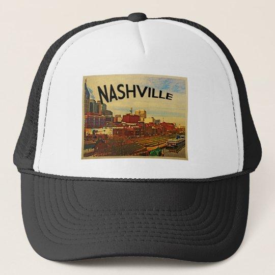 Nashville Tennessee Skyline Trucker Hat