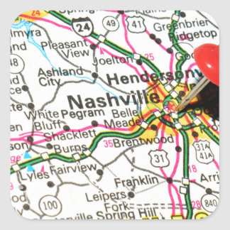 Nashville, Tennessee Square Sticker