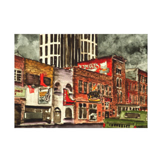 Nashville Tennessee TN downtown city buildings Gallery Wrap Canvas