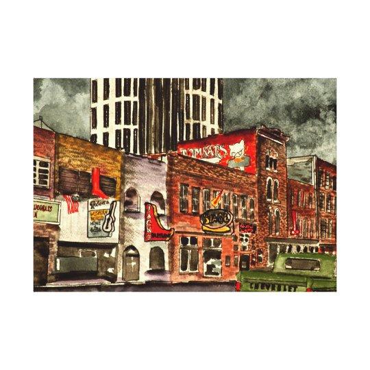 Nashville Tennessee TN downtown city buildings Canvas Print