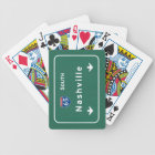 Nashville Tennessee tn Interstate Highway Freeway Bicycle Playing Cards