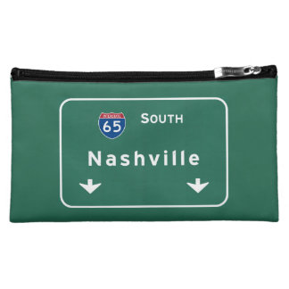 Nashville Tennessee tn Interstate Highway Freeway Cosmetic Bag