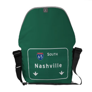 Nashville Tennessee tn Interstate Highway Freeway Messenger Bag