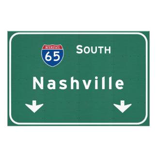 Nashville Tennessee tn Interstate Highway Freeway Photo Print