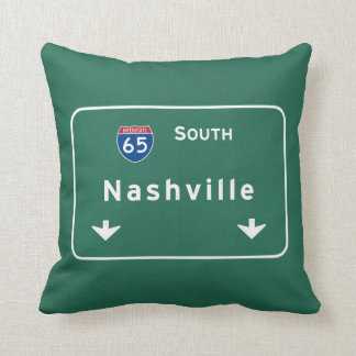 Nashville Tennessee tn Interstate Highway Freeway Throw Pillow