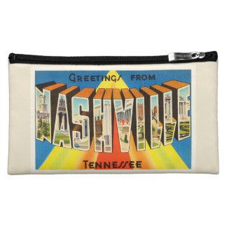 Nashville Tennessee TN Old Vintage Travel Souvenir Cosmetic Bag