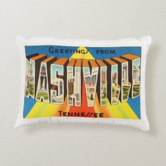 Nashville Tennessee TN Old Vintage Travel Souvenir Decorative Pillow