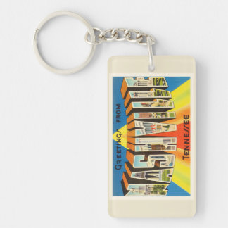 Nashville Tennessee TN Old Vintage Travel Souvenir Keychain
