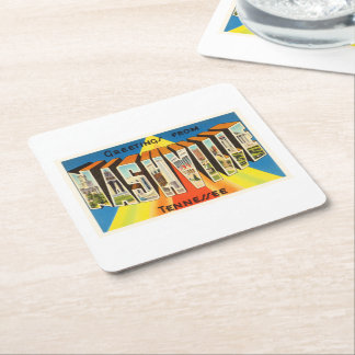 Nashville Tennessee TN Old Vintage Travel Souvenir Square Paper Coaster