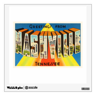 Nashville Tennessee TN Old Vintage Travel Souvenir Wall Decal
