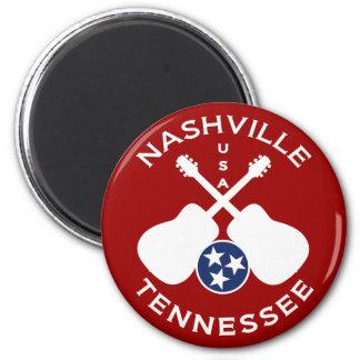 Nashville, Tennessee USA 2 Inch Round Magnet