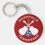 Nashville, Tennessee USA Basic Round Button Keychain