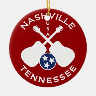 Nashville, Tennessee USA Christmas Tree Ornaments