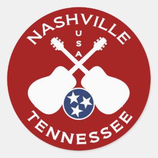 Nashville, Tennessee USA Classic Round Sticker