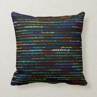 Nashville Text Design I Throw Pillow