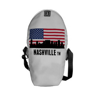 Nashville TN American Flag Messenger Bag