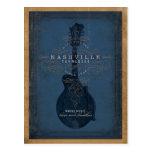 Nashville, TN - Blue Mandolin Postcard