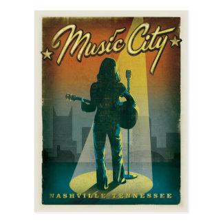 Nashville, TN - chica Postales