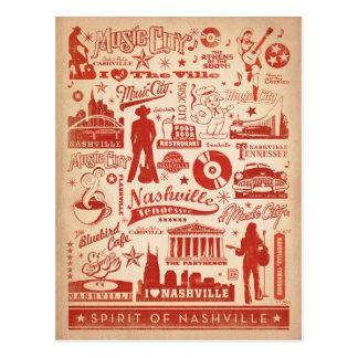 Nashville, TN - impresión del modelo Postales