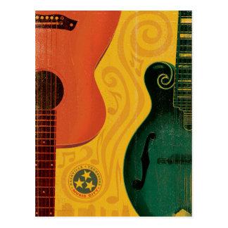 Nashville, TN - Mandolin Guitar Postcard