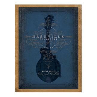Nashville, TN - mandolina azul Tarjetas Postales