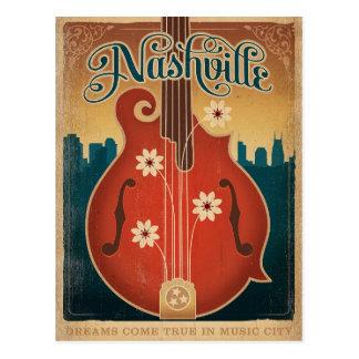 Nashville, TN - mandolina de la flor Tarjeta Postal