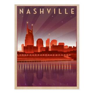 Nashville, TN - Night Skyline Postcard